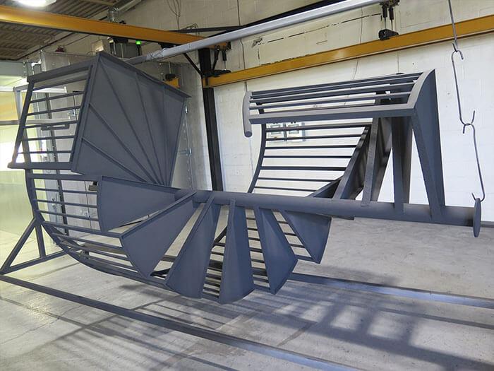 Custom spiral staircase Calgary